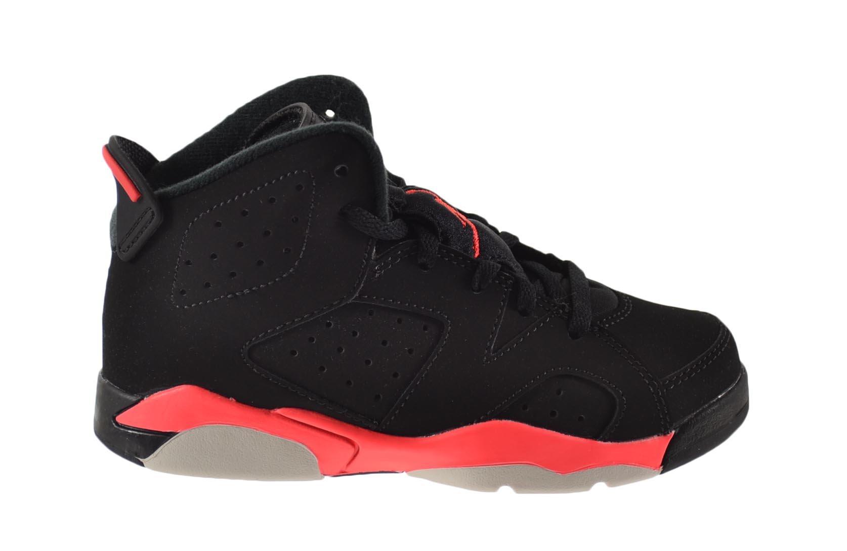 Air Jordan 6 Retro BP Little Kids Shoes Black/Infrared 384666-023 (2.5 M US)