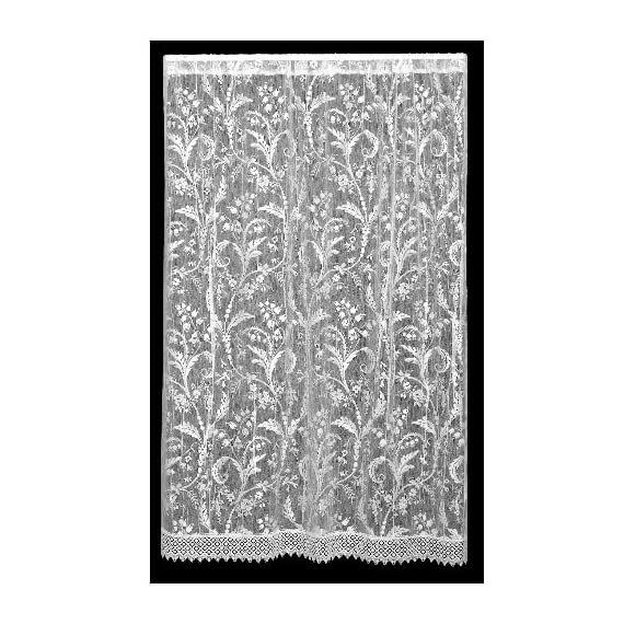 Heritage Lace Coventry 45-Inch Wide by 63-Inch Drop Panel with Trim, Ivory - Window panel with trim Fine-gauge lace Made in USA - living-room-soft-furnishings, living-room, draperies-curtains-shades - 61BtO1PHa2L. SS570  -