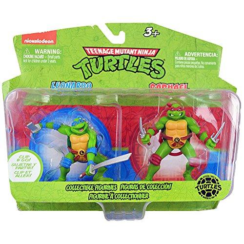 Teenage Mutant Ninja Turtles Collectible Figurines [Leonardo and Raphael] (Teenage Mutant Ninja Turtles Van)