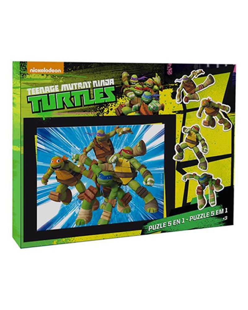 Puzzle 5 en 1 Tortugas Ninja: Amazon.es: Juguetes y juegos