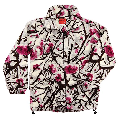 Black Mountain Apparel Women's Wildlife Print Heavy Fleece Coats (Cherry Blossum, Small) (Outerwear Mountain Black)