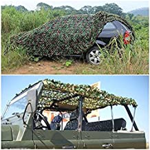 Businda Camo Netting 3m x 3m Woodland Camouflage Net For Camping Military Hunting Shooting Sunscreen Nets