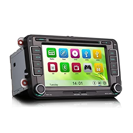 Amazon com: Erisin Car Radio Stereo Sat Nav Autoradio Car