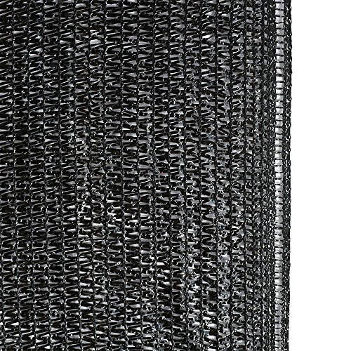 Agfabric 60% Sunblock Shade Cloth Cover with Clips for Plants 6.5' X 20', Black by Agfabric (Image #2)