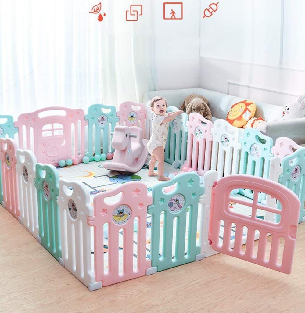 SISHUINIANHUA Indoor Children's Fence, Safe Crawling Toddler Fence, Baby Playground Enclosure Fence,12+2