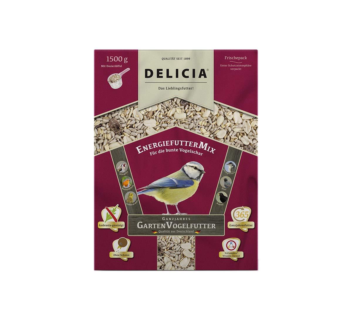 Delicia Doublure Doublure énergie Mix d'Hiver pour oiseaux sauvages, 1,5kg
