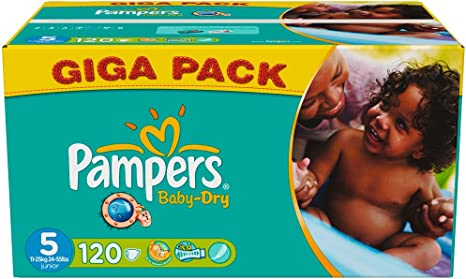 17/couches Pampers Baby Dry Couches Junior Taille 5/ 11//–/25/kg