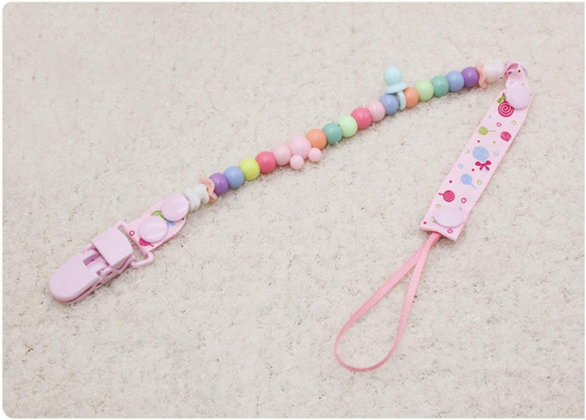 Rouku Baby Pacifier Rope Clips Appease Nipple Anti-lost Chain Dummy Clip Nipple Holder Anti-drop Rope Baby Supplies