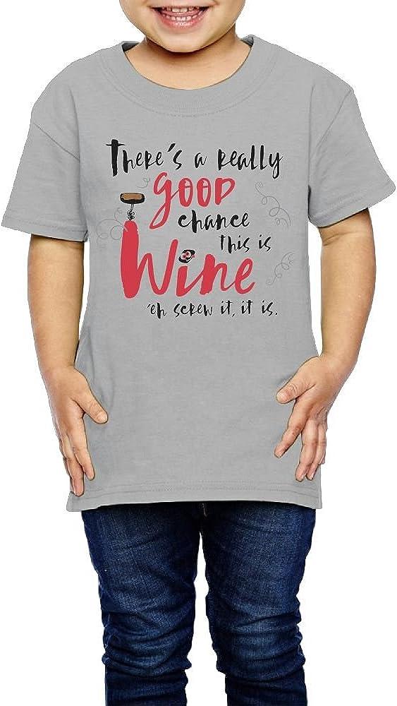 Mug Leisure Sports Shirts Short Sleeve Gray 3 Toddler Yishuo Kids Real Good Chance This is Wine