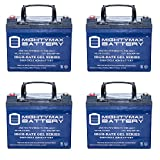 12V 35Ah GEL Battery Replacement for Solar Power Banks - 4 Pack - Mighty Max Battery brand product