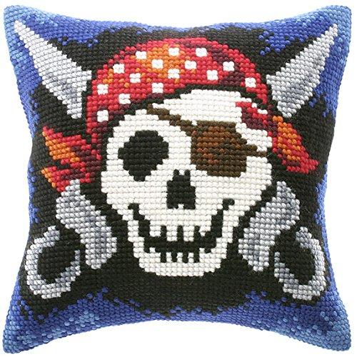 Con forma de esqueleto pirata de punto de cruz para parte ...