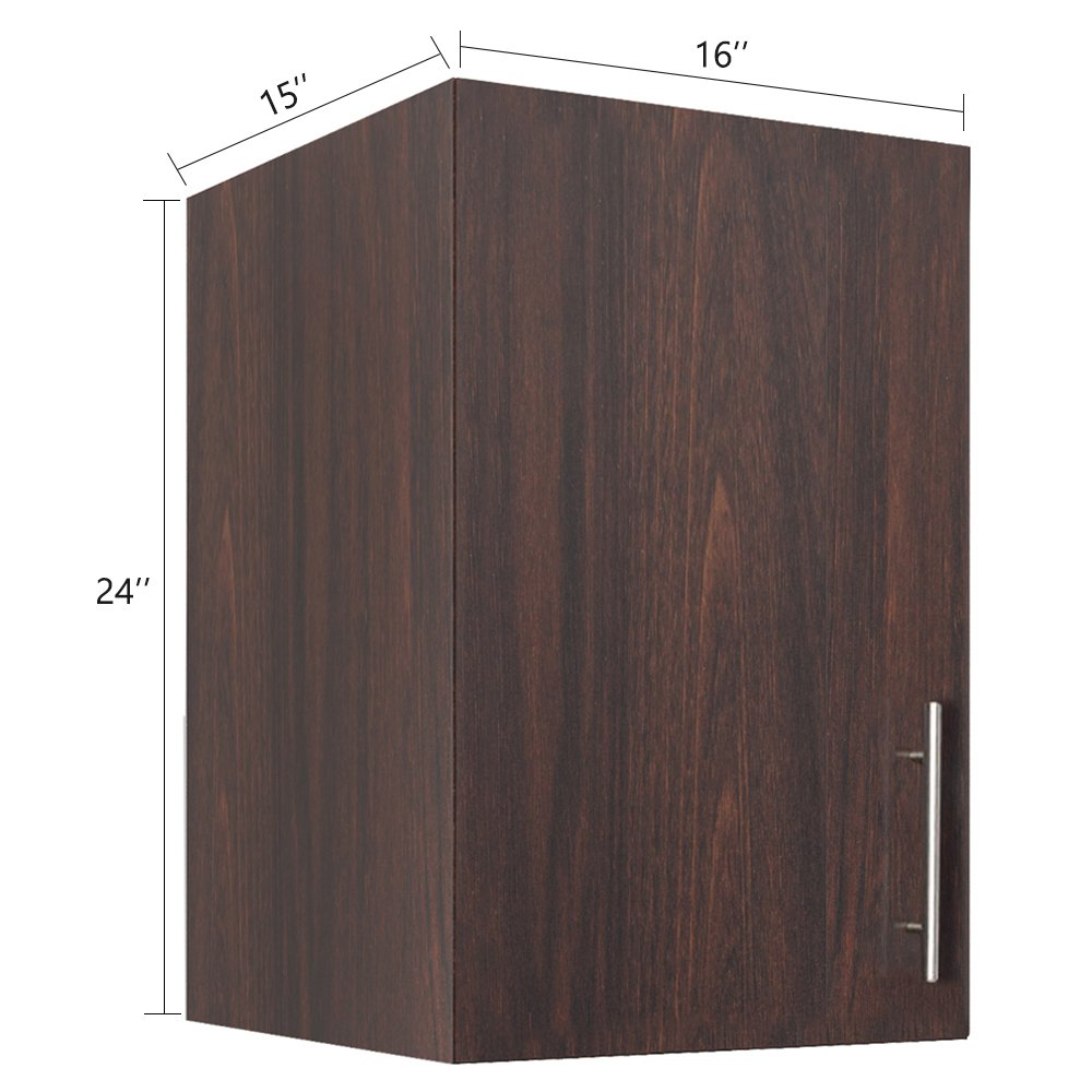 LifeSky LIF-CKC3002-2 Storage Cabinet, 16''x24'' Wall, Walnut by LifeSky (Image #5)