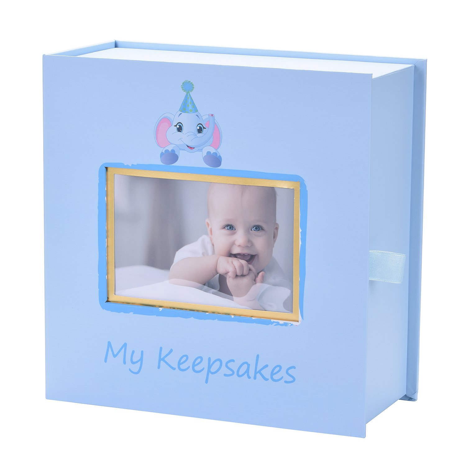 Baby Keepsake Box, First Year Baby Memory Box Set: Record Your Girls or Boys First Mementoes! Babies Keepsake Journal box, Gift Box for Newborn Boy or Girl by BBX (Image #2)