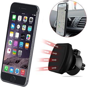 Soporte Móvil Coche Magnético Vkaiy Universal para Rejillas del Aire Soporte Smartphone Coche para iPhone 7/6s/6/5s/5, Android Smartphone, GPS Navegado, Mini Tablet y Más: Amazon.es: Electrónica