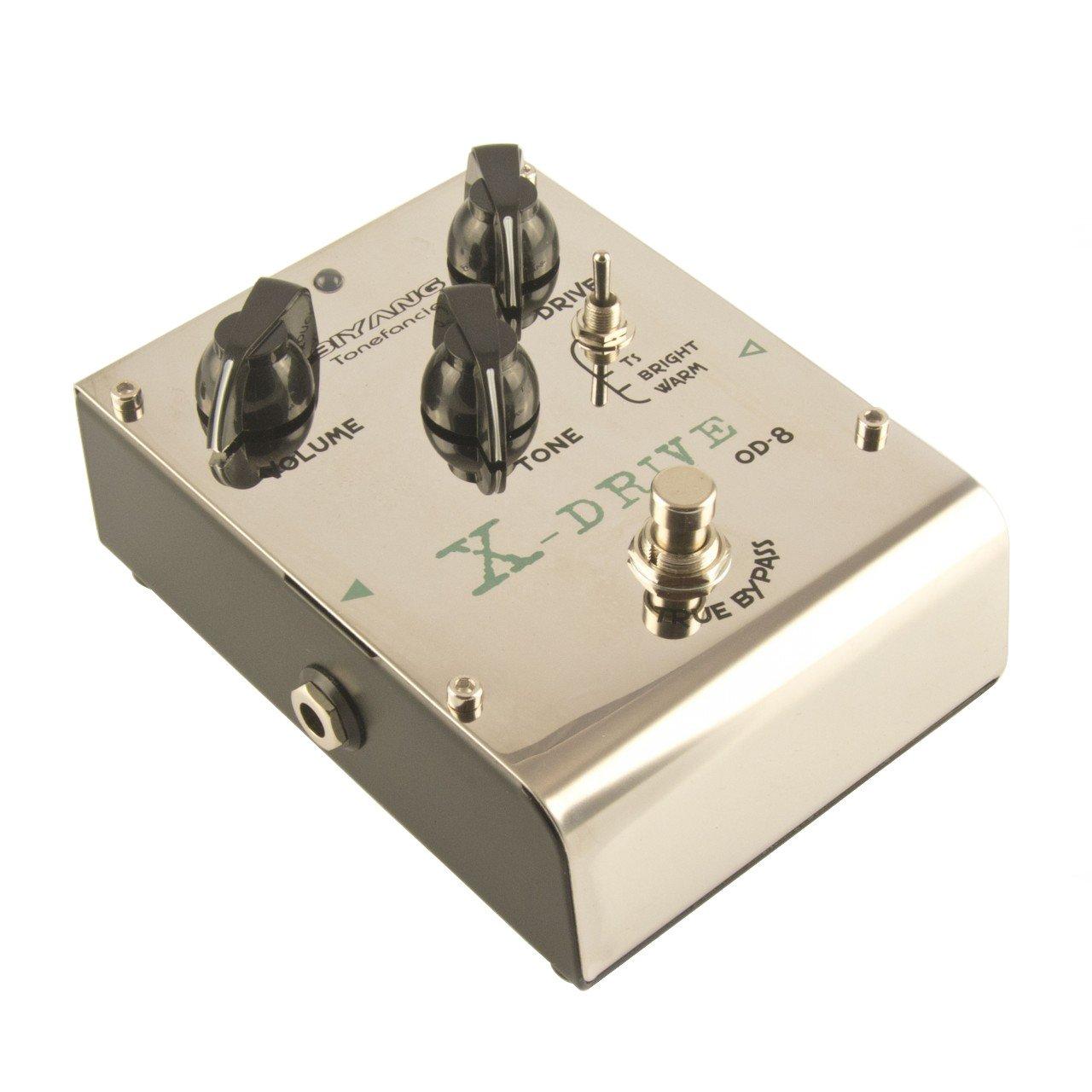 Biyang OD8 Tubescreamer Clone Overdrive-Pedal (inkl. 3 Wechselchips) OD-8