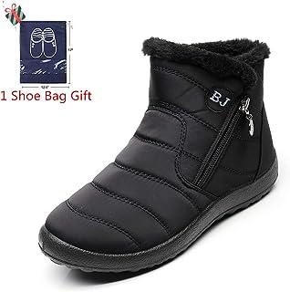 Gaatpot Zapatos Invierno Mujer Botas de Nieve Forradas Zapatillas ... 6ed6c265dfcd7
