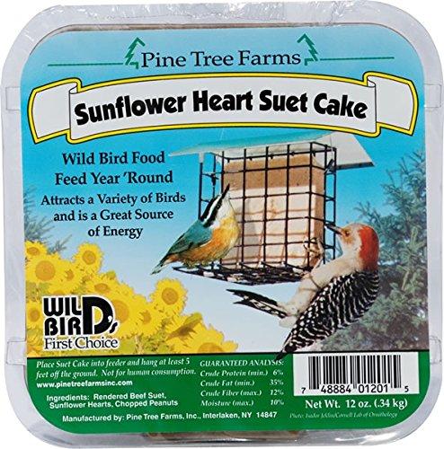 Pine Tree Farms 1201 Sunflower Heart Suet Cake, (Farms Sunflower)