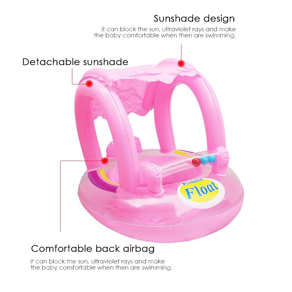 Cojín hinchable para asiento de bebé rosa rosa: Amazon.es: Bebé
