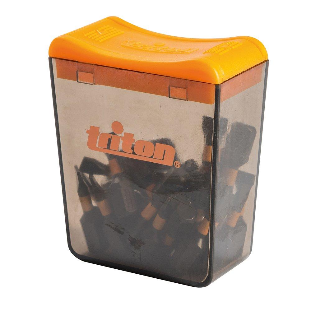 Triton TPTA52938996 - Pack de 25 puntas planas para atornillador de impacto, color negro