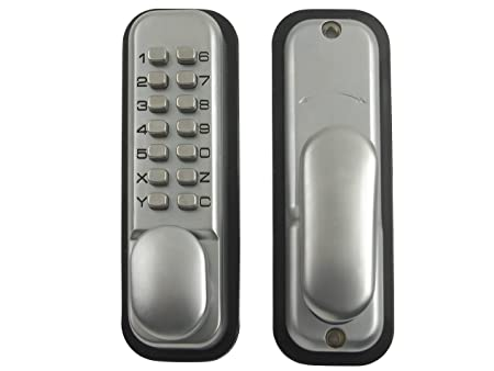 Yale Locks PDL02SC Push Button Door Lock - Chrome Finish