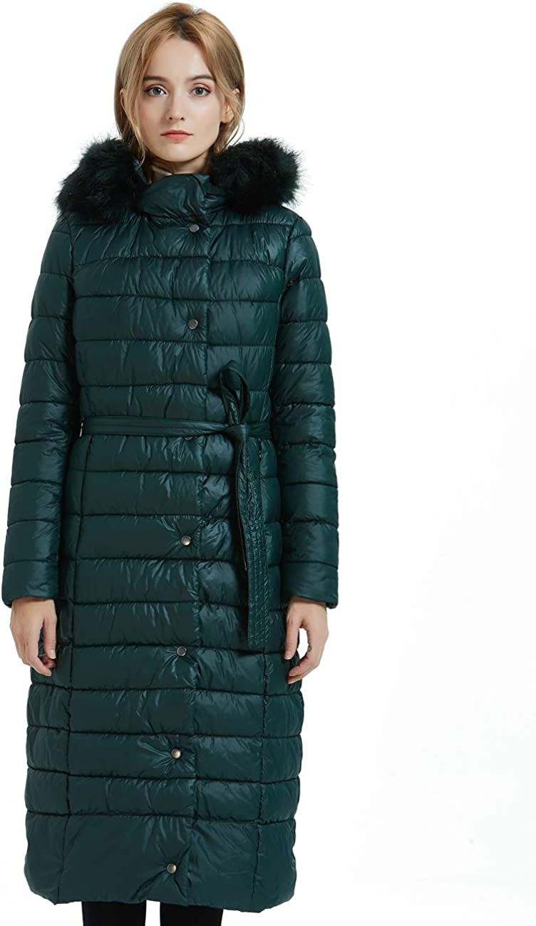 Bellivera Puffer Jacket Women,Lightweight Padding Bubble Hooded Coat with Fur Collar Warmth Outerwear for Spring Fall Winter