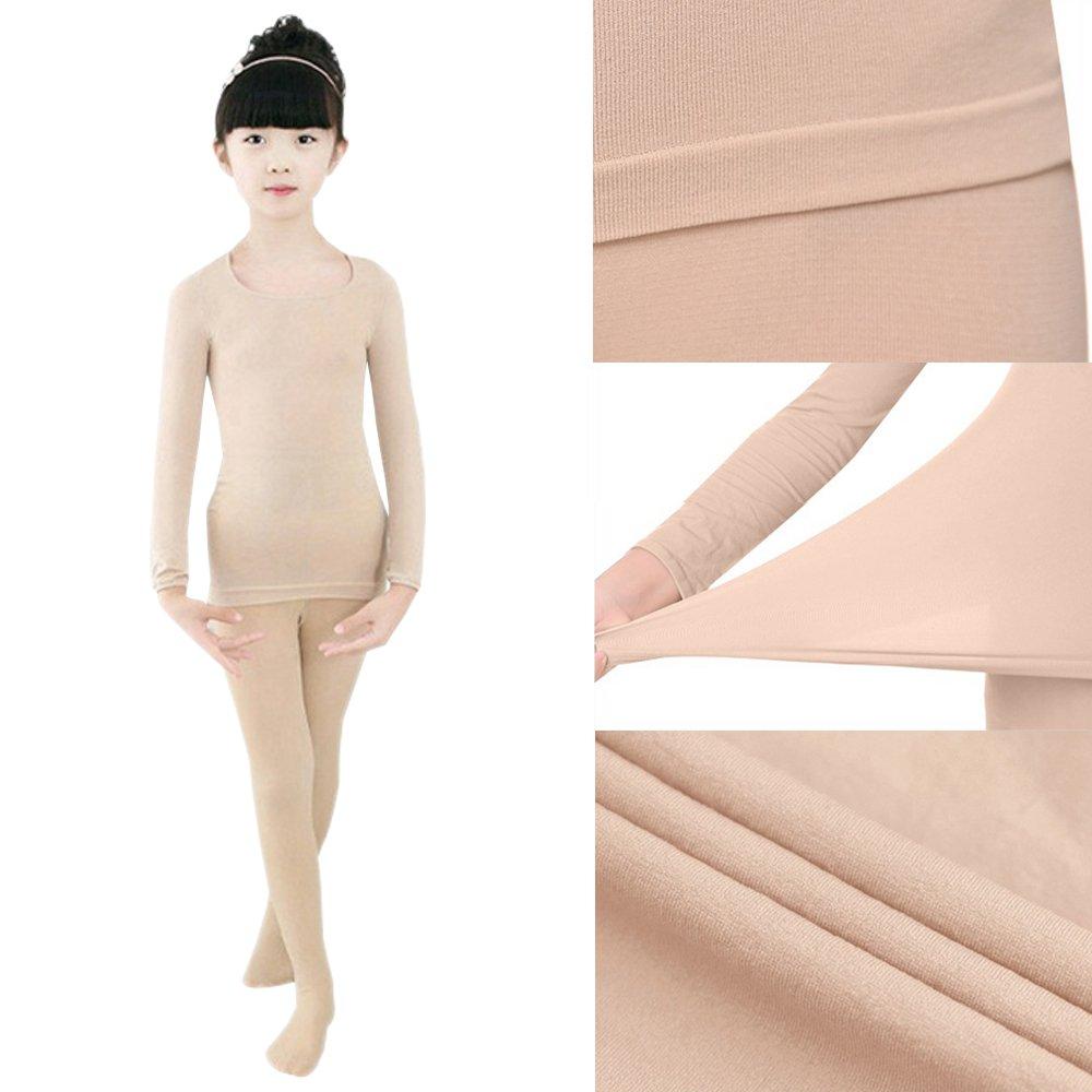 93a914db7d XFentech Ragazze Elastico Balletto Velluto Calzamaglie Calze Bambini  Classica Ginnastica Danza Collant & Termica a Manica Lunga: Amazon.it:  Abbigliamento