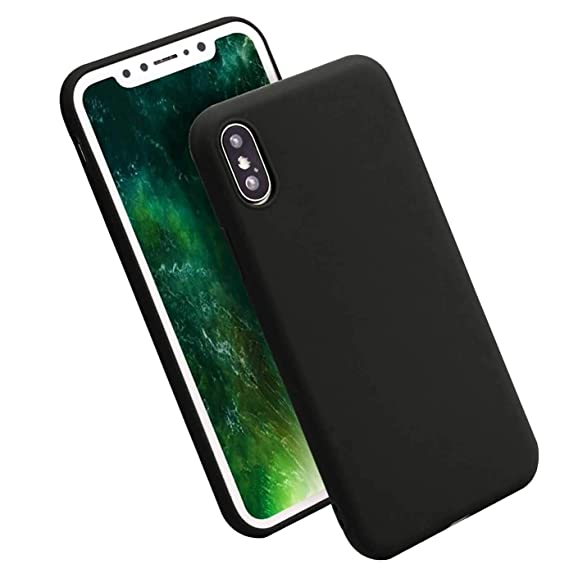 uk availability 6cf1b 90e1c iBarbe iPhone X Case,iPhone 10 Case,Lightweight Soft Silicone Case,Thin TPU  Rubber Skin Cover Minimalist Slim Protective Shock-Absorption Bumper Phone  ...