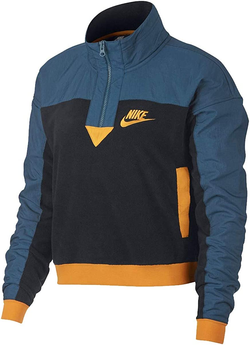 nicotina oleada llave inglesa  Nike Sweat W NSW Top Half Zip Polar – Ref. 938963-010 - Blue - Large:  Amazon.co.uk: Clothing