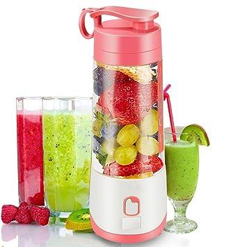 Personal portátil batidora de mano botella, copa de exprimidor para frutas y batido bebé alimentos