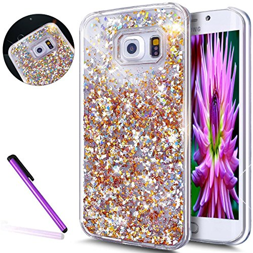 - Samsung Galaxy S7 Case,LEECO Samsung Galaxy S7 Case 3D Glitter Flowing Liquid Floating Moving Hard Protective Case Cover for Samsung Galaxy S7 [Diamonds] Gold