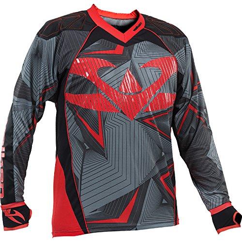 Valken Redemption Vexagon Jersey, Red/Grey, Small