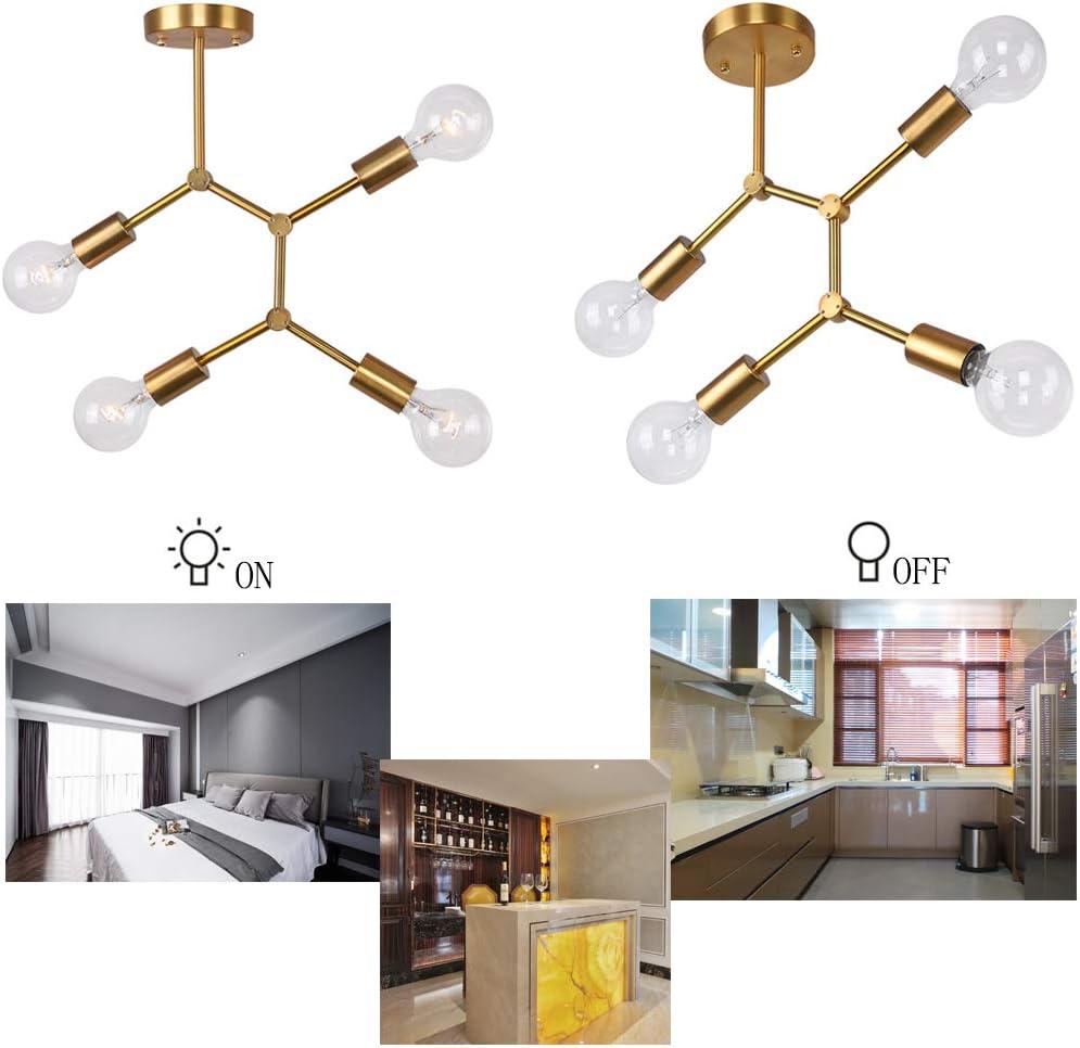 Lingkai lamparas de techo colgante industrial metal para comedor salon dormitorio negra