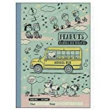 Sun-Star Stationery Craft Notebook for English Practice (B5 /Mint Green) [Snoopy/School time] (Japan Import)
