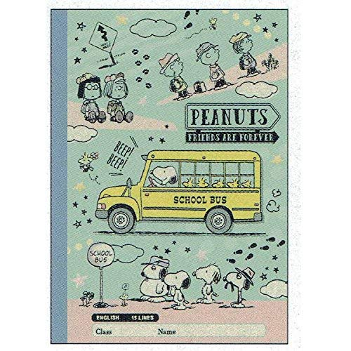 Sun-Star Stationery Craft Notebook for English Practice (B5 /Mint Green) [Snoopy/School time] (Japan Import) by Sun-Star Stationery (Image #2)