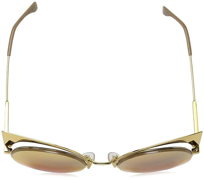 Amazon.com: Fendi 001oj Gold 0177/S anteojos de sol lente ...