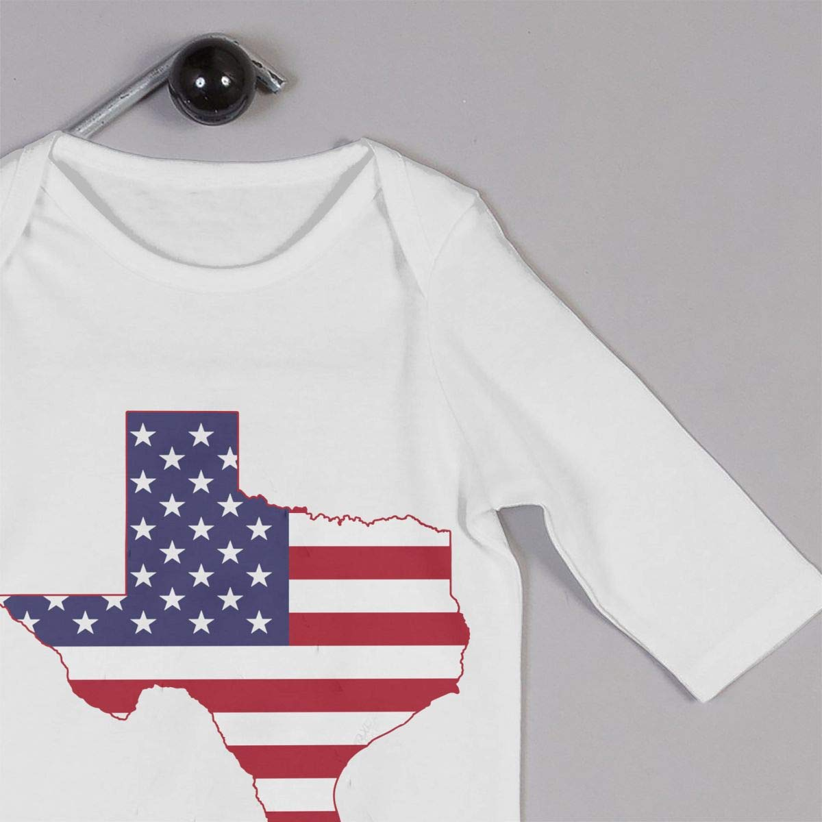 A1BY-5US Infant Babys Cotton Long Sleeve Texas American Flag Map Romper Bodysuit One-Piece Romper Clothes