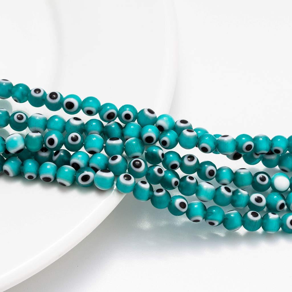 Gjyia T/ürkei Blue Evil Eyes Ball Perlen Spacer Perlen Armb/änder Halskette Schmuckherstellung