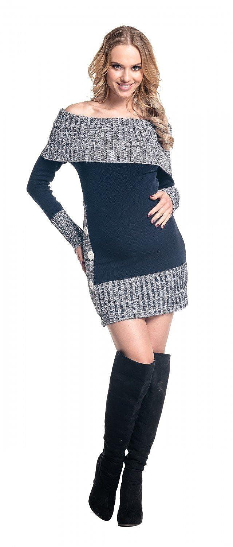 3799c1b3f Vestido premamá Happy Mama Boutique (de punto) 913p Negro azul marino  38-42  Amazon.es  Ropa y accesorios