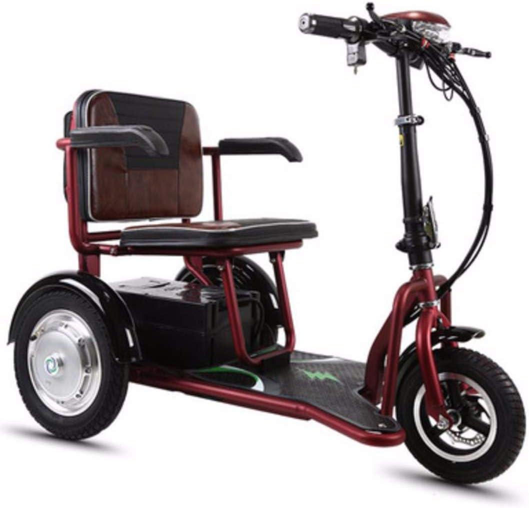 Quino Patinete eléctrico Triciclo Plegable para adultos, Silla de ruedas eléctrica Ajustable Tres ruedas Bicicleta electrica Discapacitado Ancianos Exterior Interior Portátil eléctrico Ciudad Viaje 20: Amazon.es: Jardín