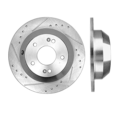 Callahan CDS04775 REAR 302.1mm Drilled/Slotted 5 Lug [2] Rotors: Automotive