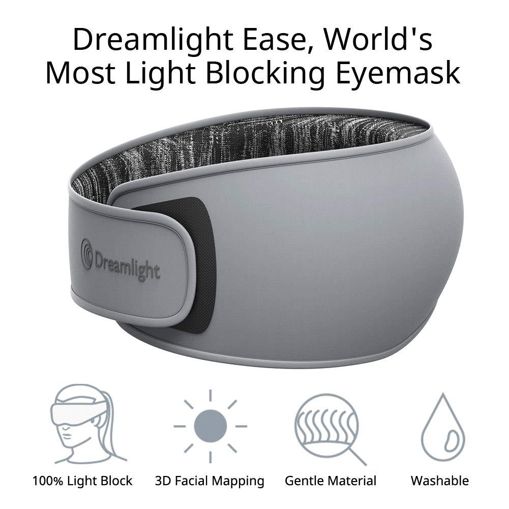 DREAMLIGHT Ease Sleep Mask for Women Men, 3D Contoured Sleep Eye Mask, Lightweight Comfortable Sleeping Mask with Soft Natural Silk,100% Light Blocking Eye Blinder for Travel/Naps/Shift Work/Yoga by Dreamlight