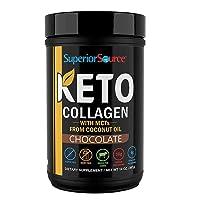 Superior Source Keto Collagen Protein Powder Chocolate - Grass Fed Collagen Peptides...