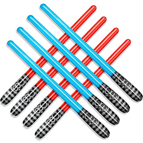 Novelty Place Inflatable Light Saber Sword Toys Set for Kids Party Favors, 30 Inches (Pack of 8) -