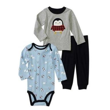 472752ae6 Amazon.com  Carters Infant Boys Penguin   Polar Bear Outfit Creeper ...
