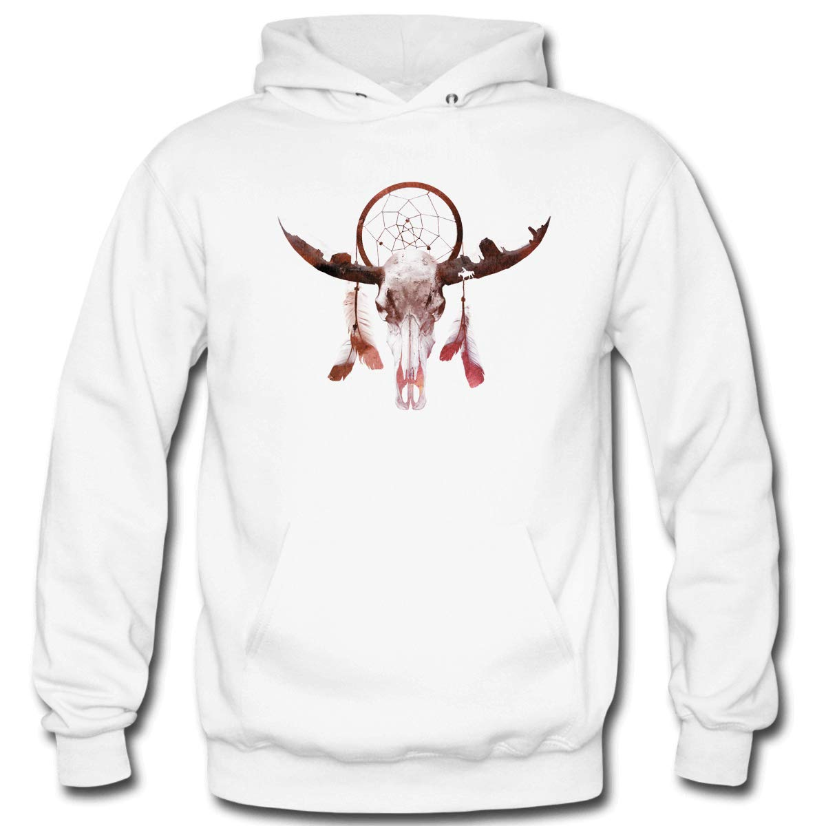 Mens Deadly Desert Hooded Sweatshirt Funny Printed Pullover Hoodies Classic Long Sleeve T Shirt Tops