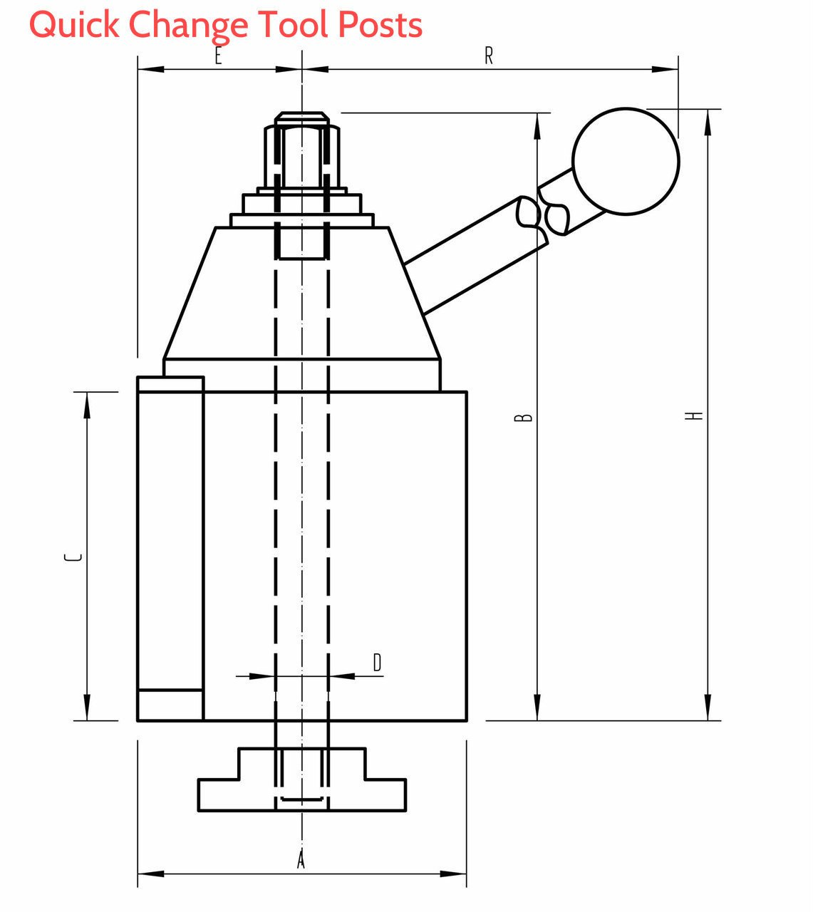 Accusize Tools - for Lathe Swing 6-12'', AXA, Wedge Type Quick Change Tool Post, 0250-0111