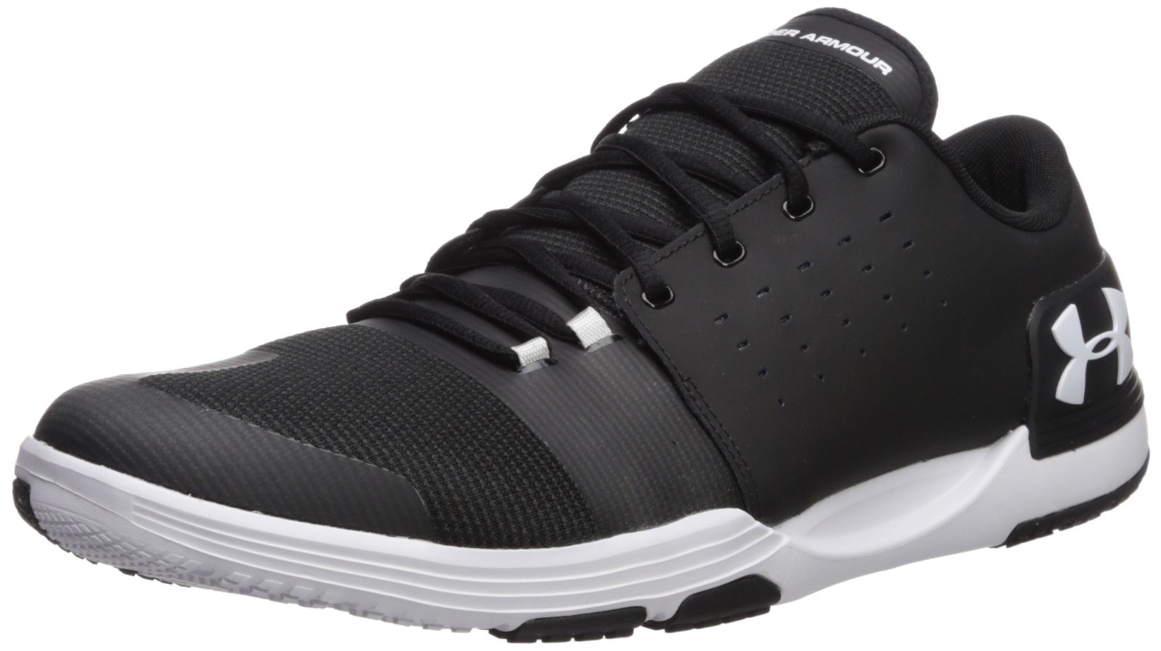 Under Armour Men's Limitless 3 Sneaker, Black (001)/White, 11.5 by Under Armour