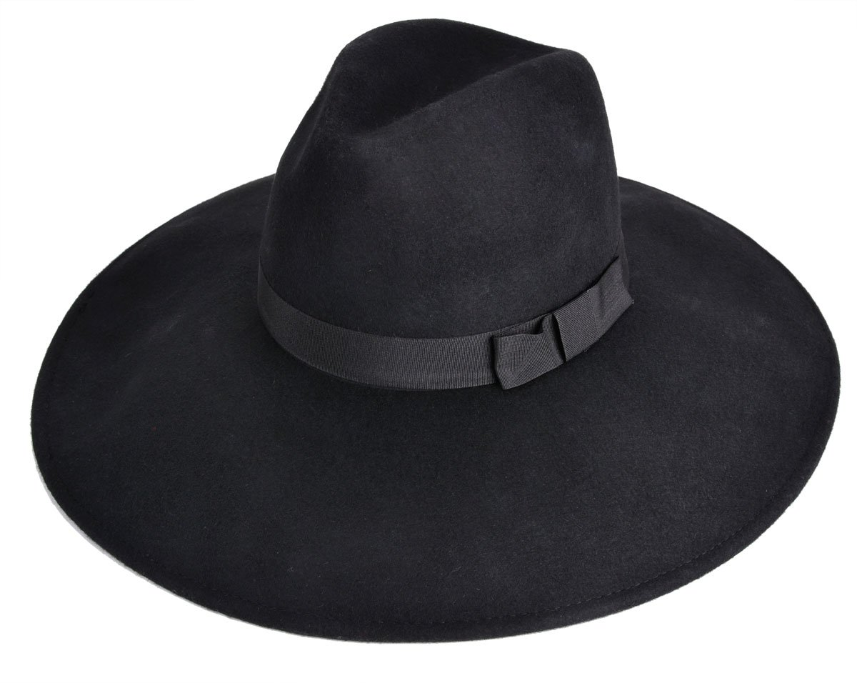 Zoylink Fedora Hat Wool Hat Wide Brim Jazz Hat Floppy Hat for Women