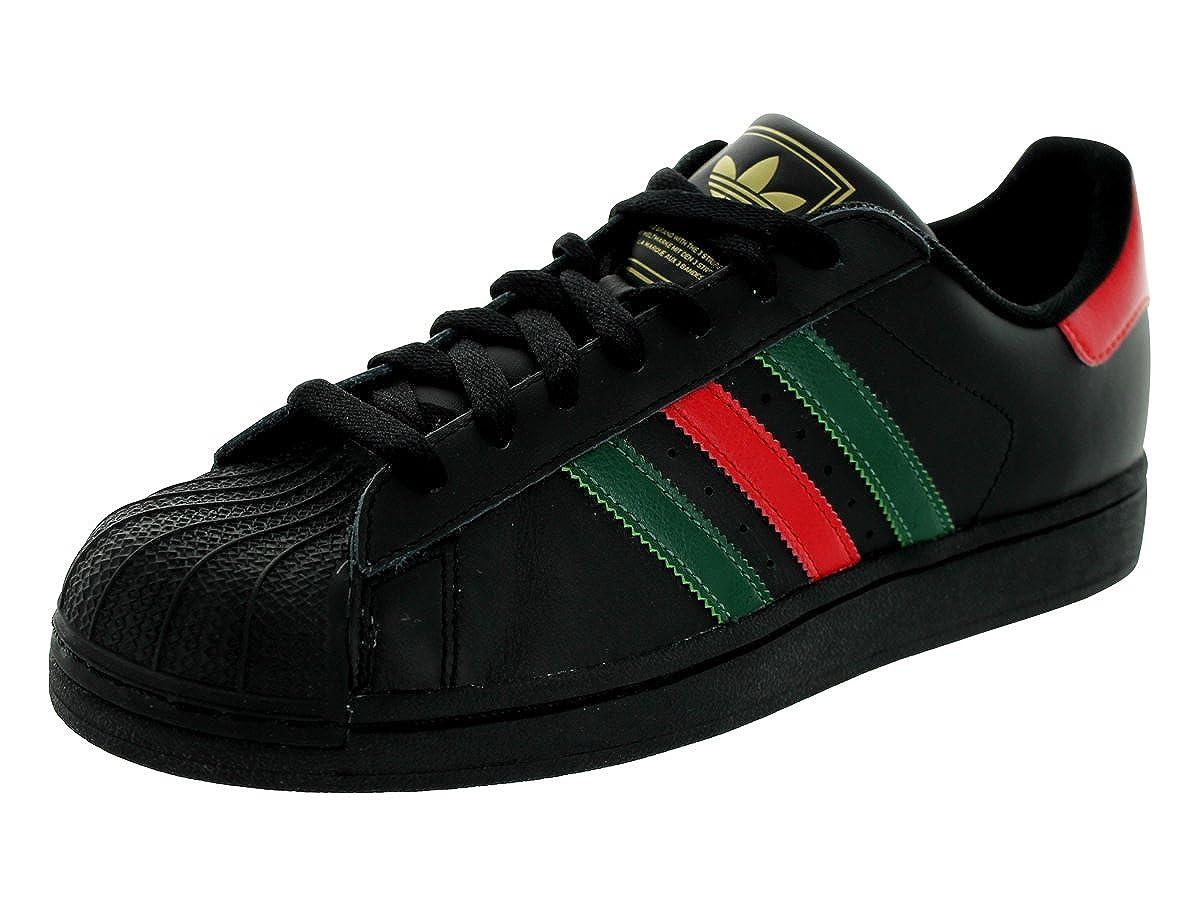 adidas superstar black and green
