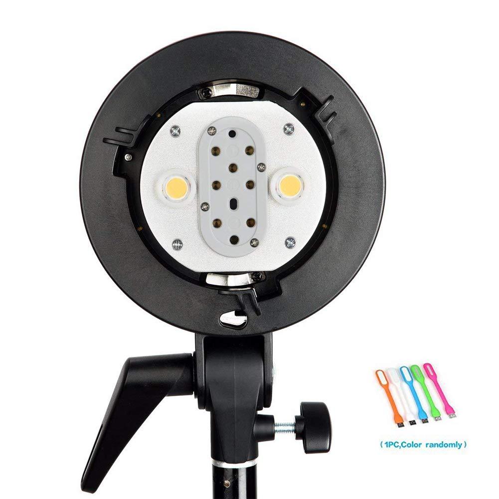 Godox AD-B2 Dual Tubes Light Head S-Type Bowens Mount Flash Light Head Holder Bracket to Install 2 Godox AD200 AD200Pro Pocket Flashes Together to Achieve 400W Power Output by Godox